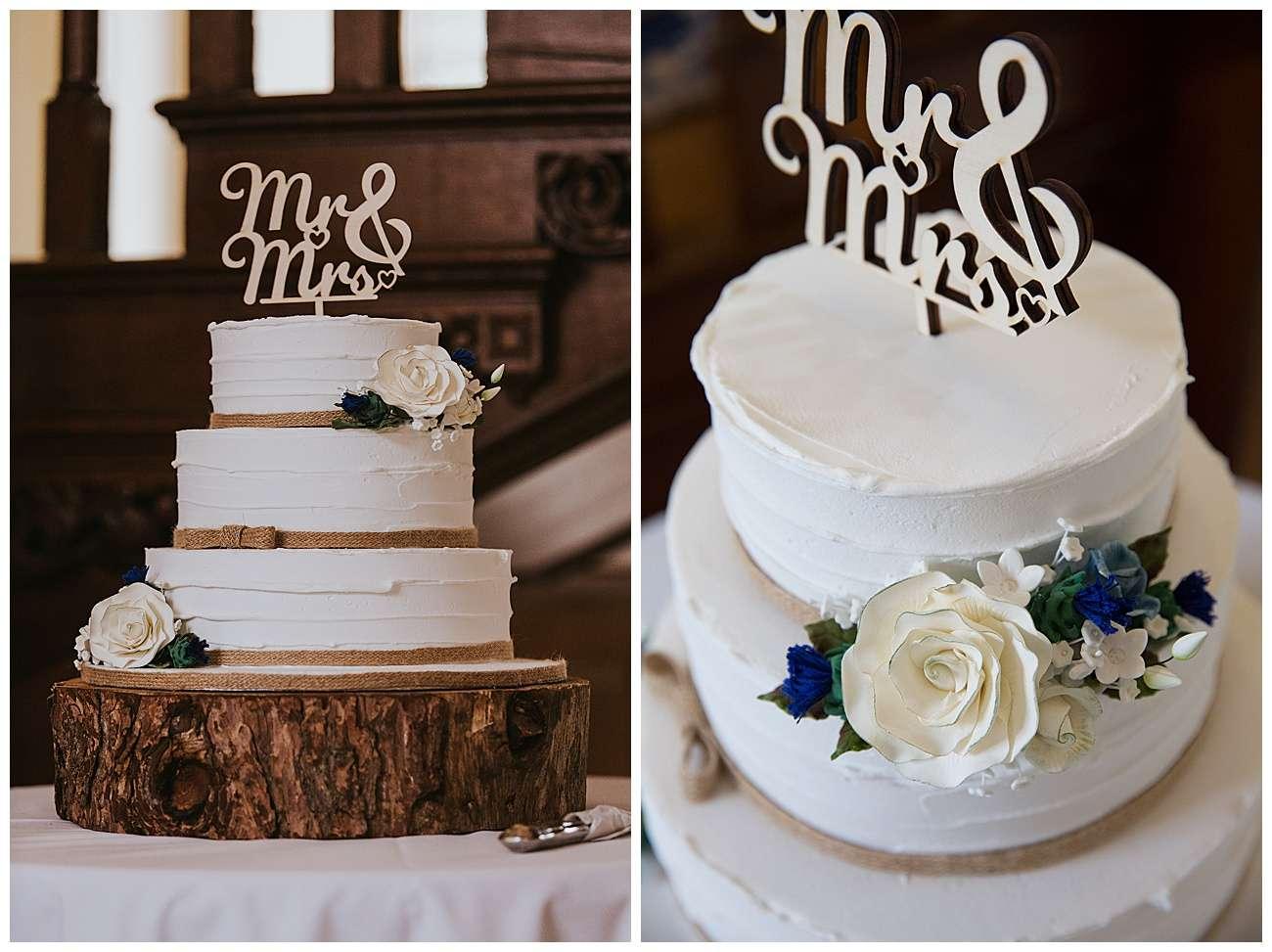 The wedding cake detail shots
