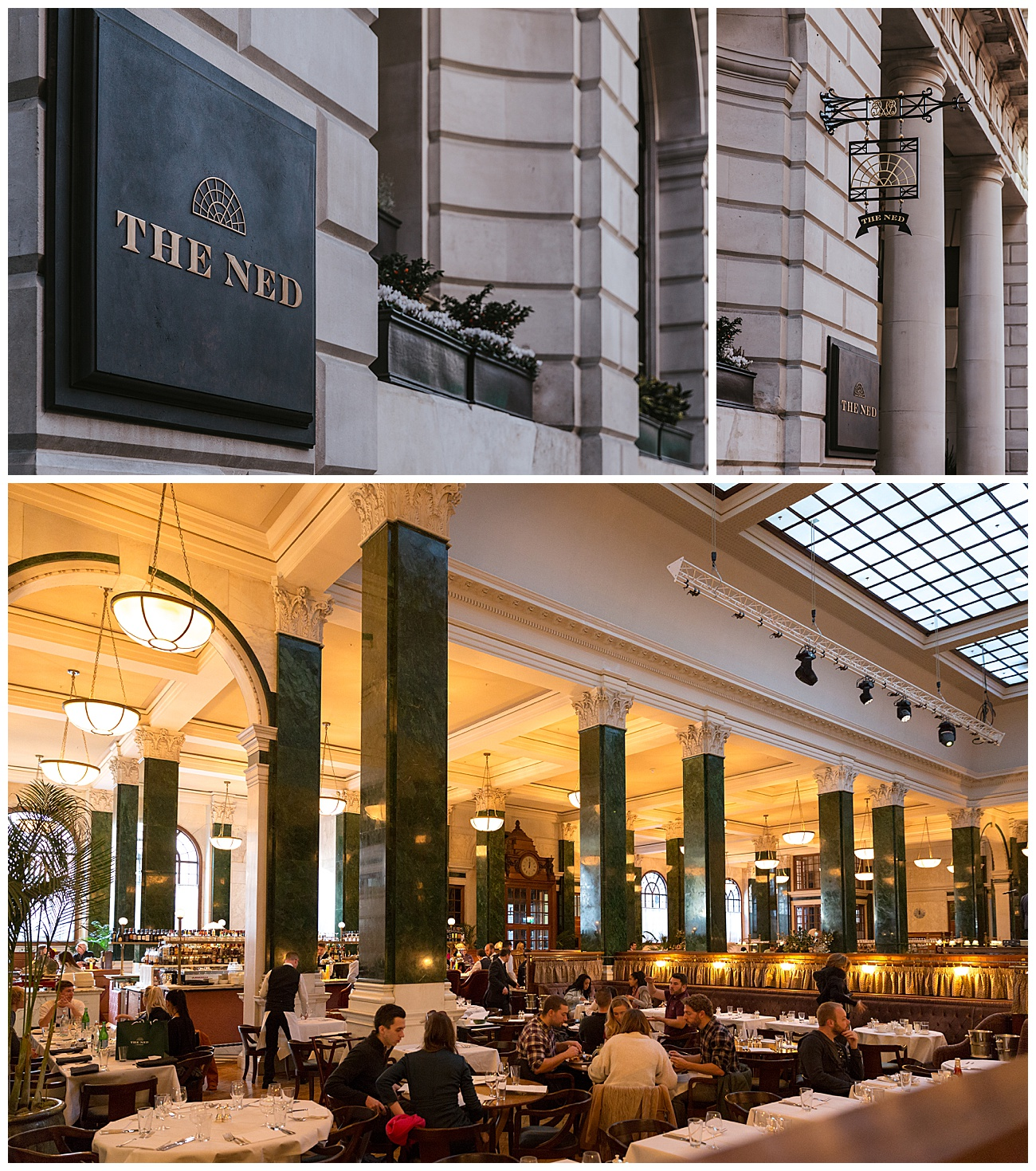 The Ned 5 star hotel in London. Interior and exterior photographs