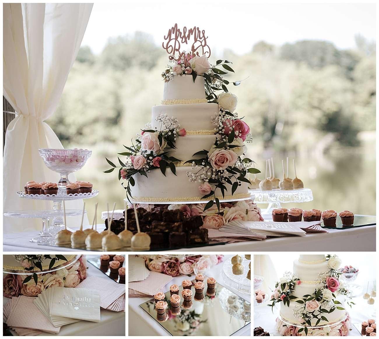 The wedding cake details