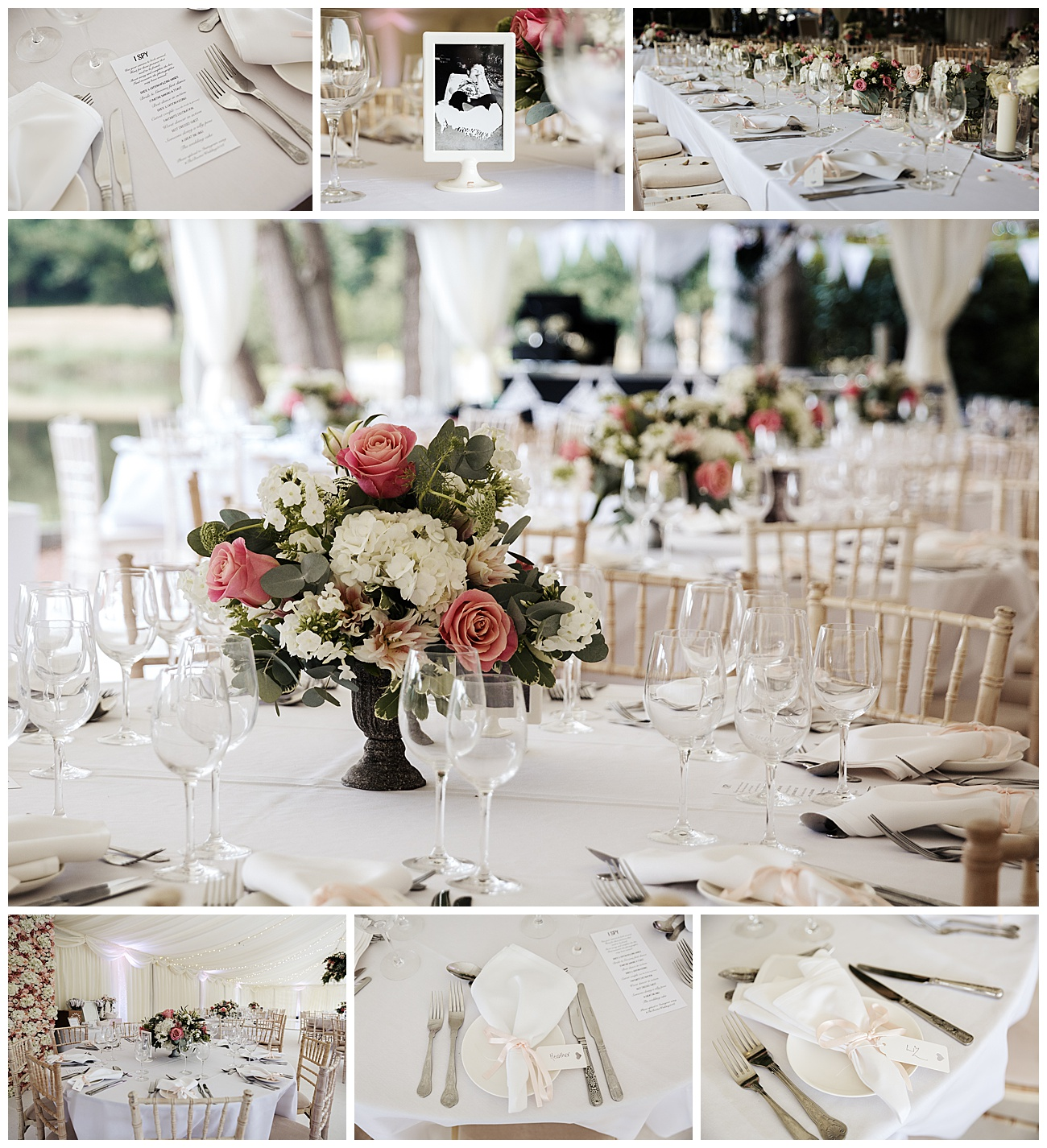 The wedding table details