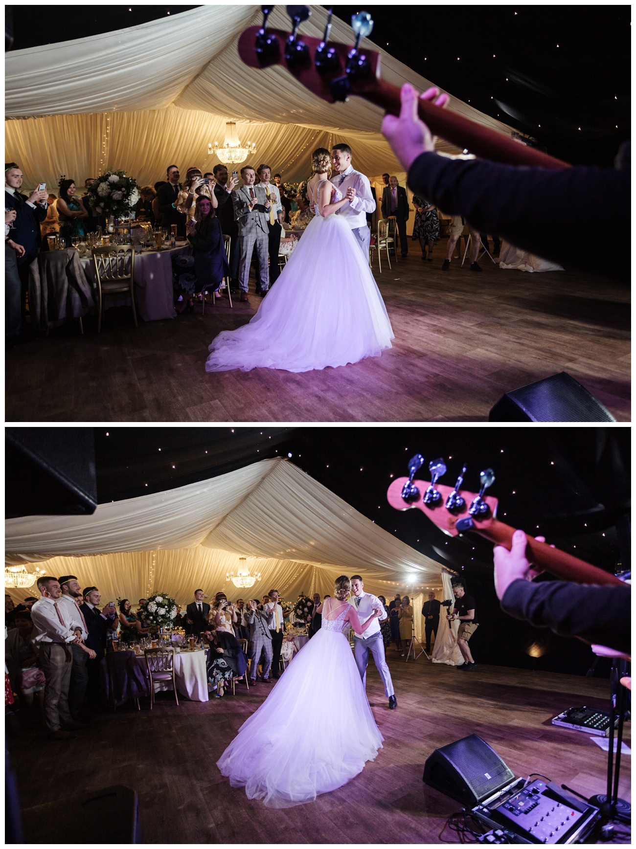 Bride and groom dancing for the their first dance