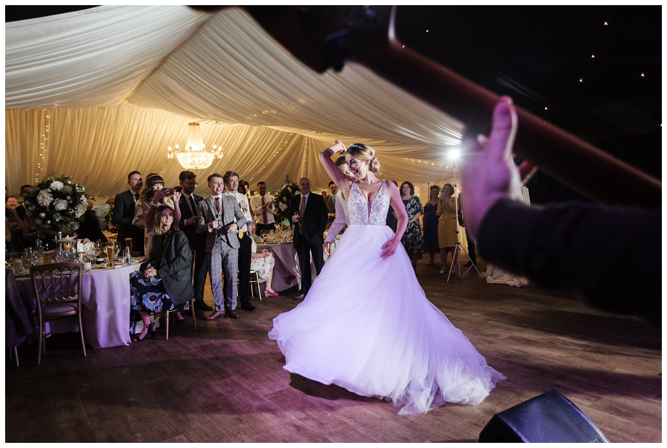 Another images of Bride and groom dancing for the their first dance