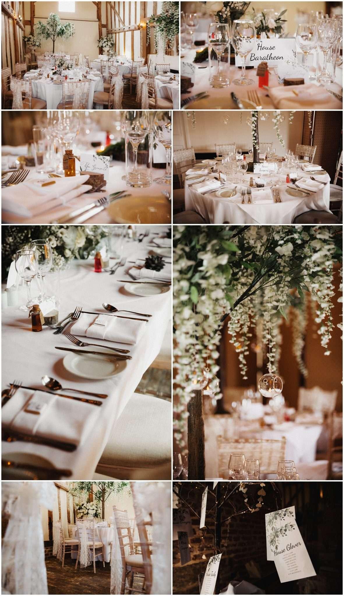 Wedding breakfast details of the room