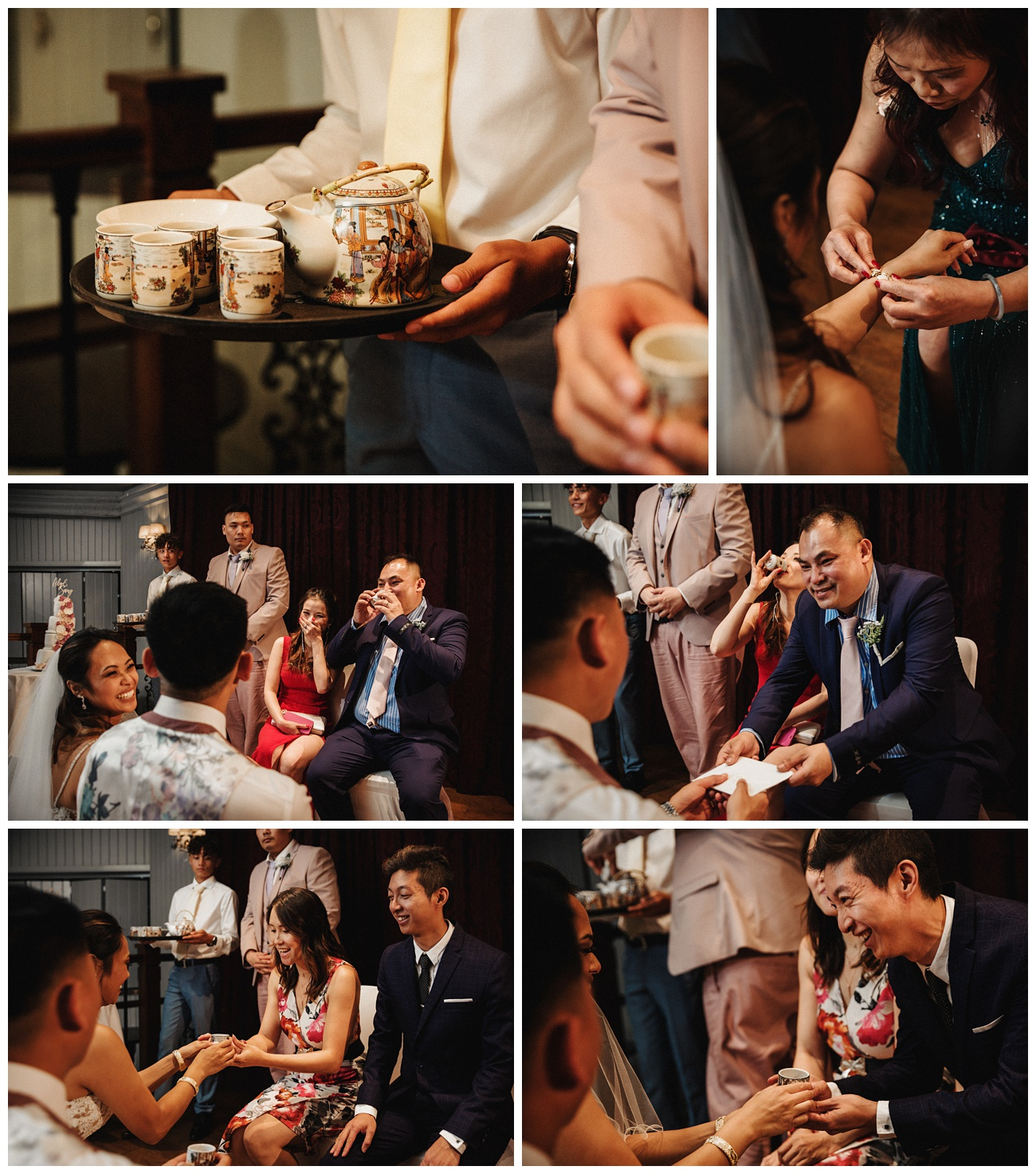 A traditional Chinese tea ceremony after the speeches