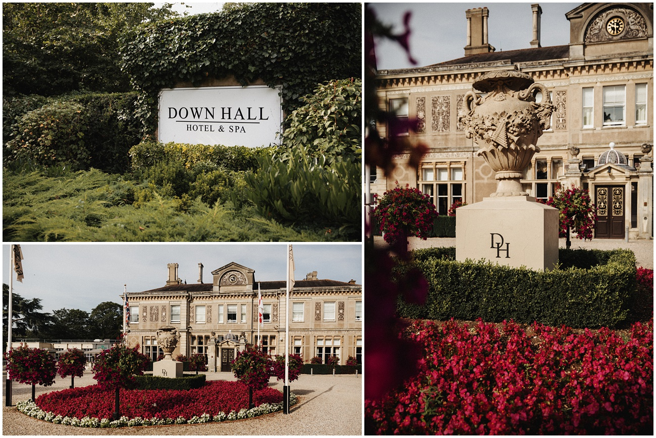 Exterior shots of Down hall Wedding venue