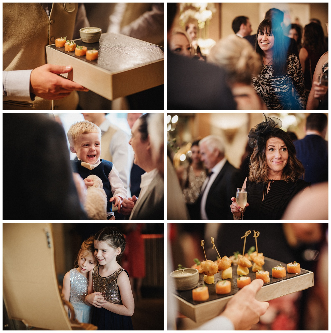 Drinks and Canapes are enjoyed by the guests