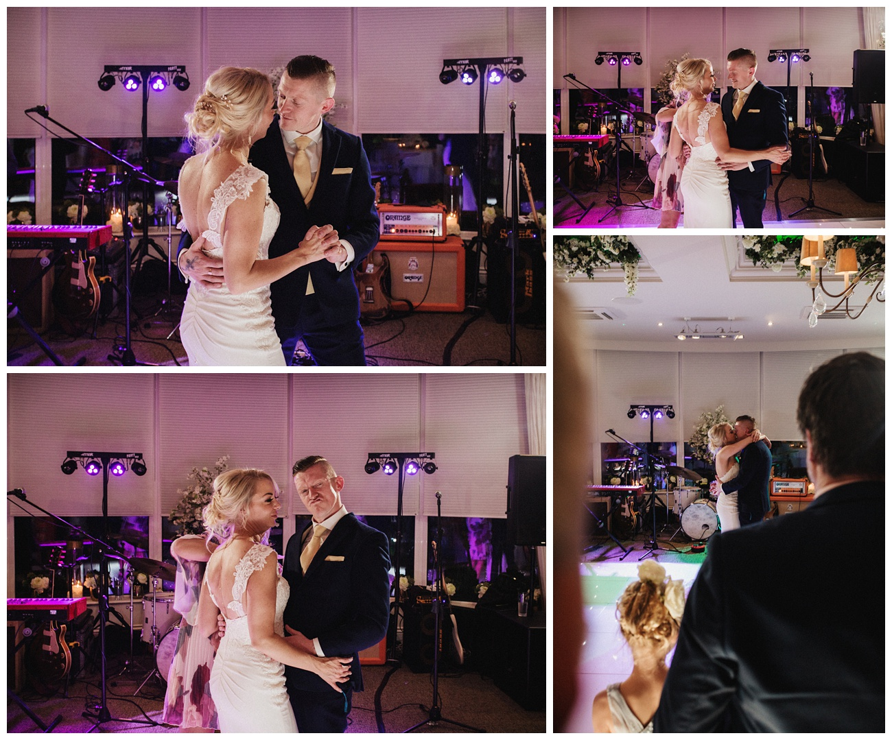The bride and groom dance during their first dance