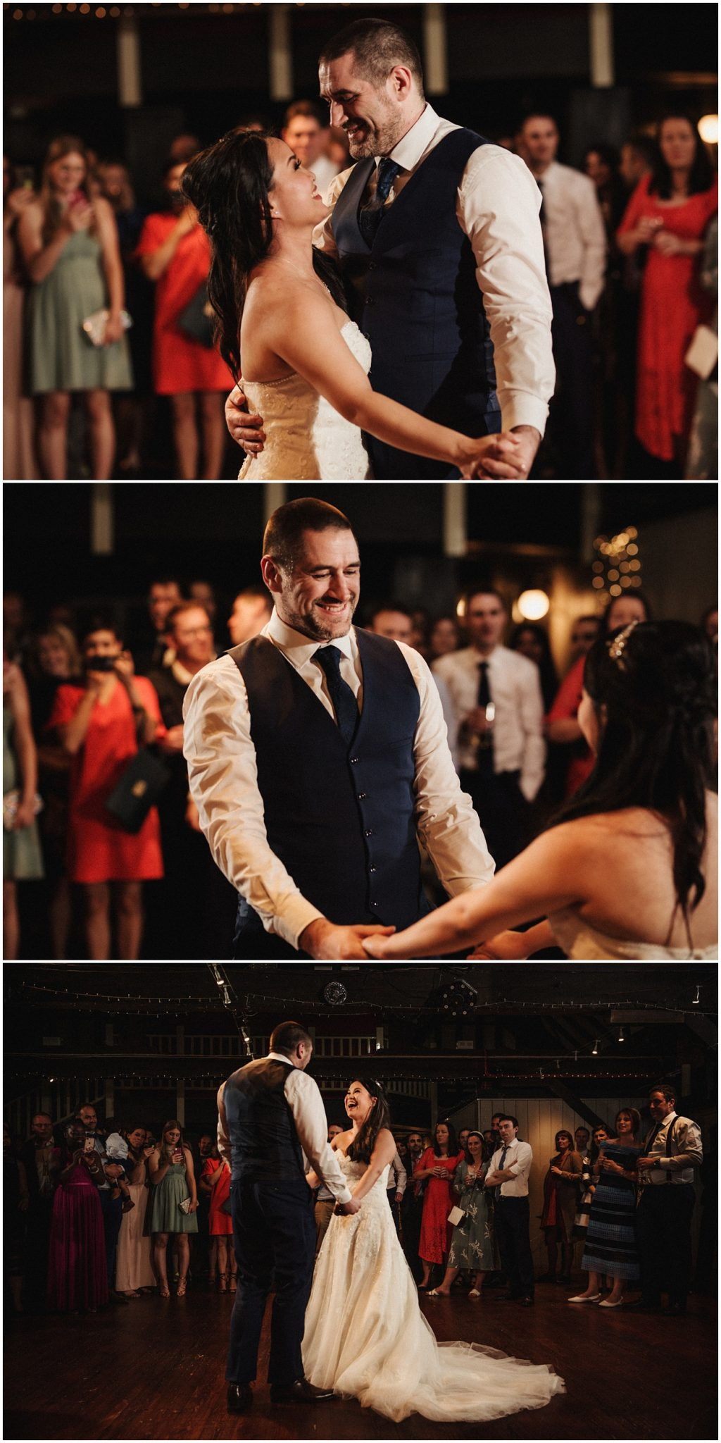 The first dance for the bride and groom
