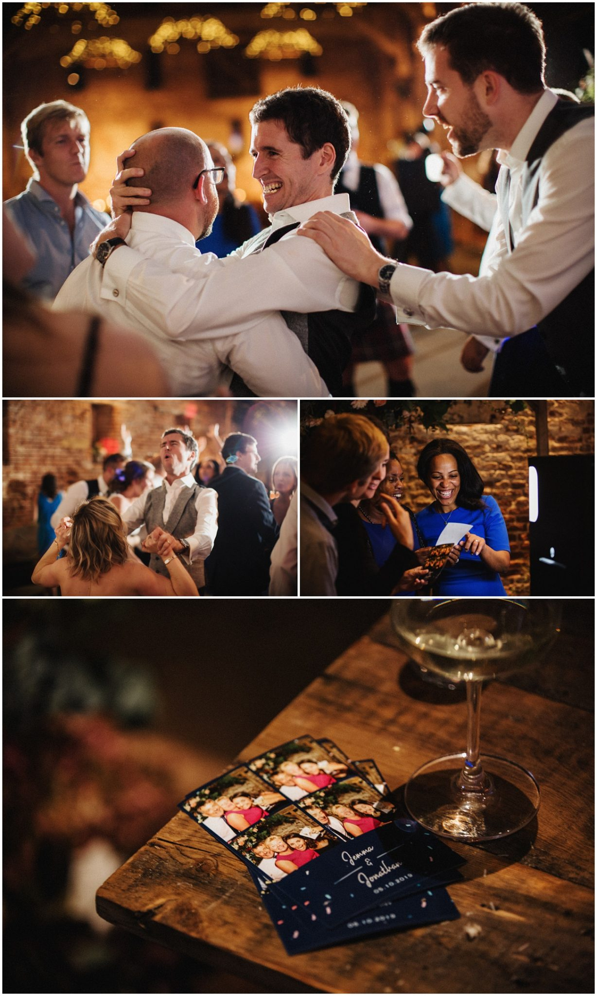 Dance pictures of wedding guests and people using the photo booth