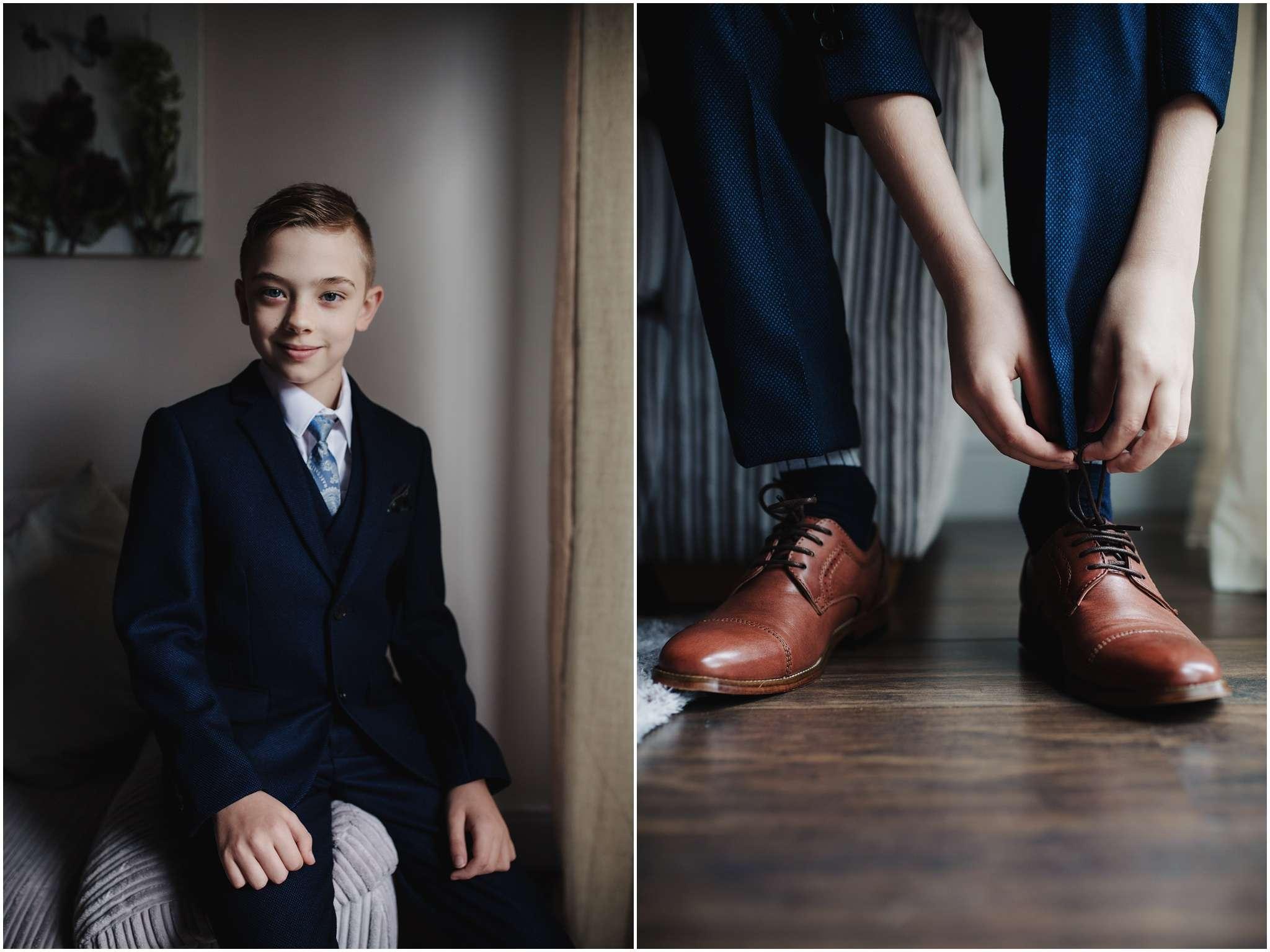The Rochford Hotel wedding photography - Portrait of groomsmen
