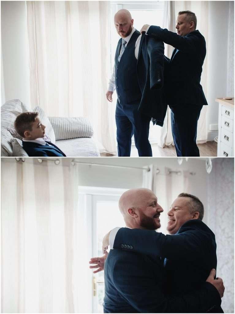 The Rochford Hotel wedding photography - groomsmen getting ready