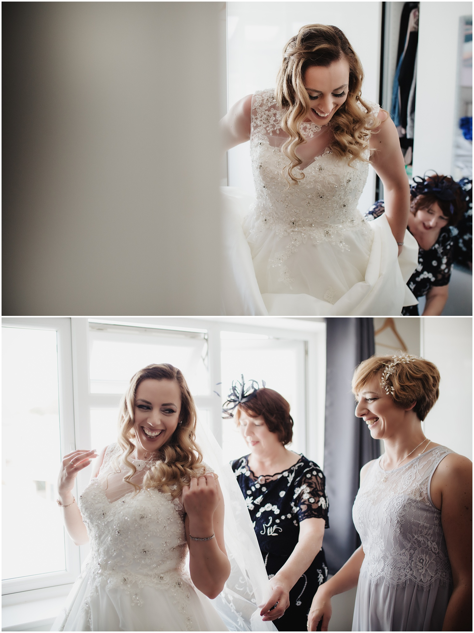 The Rochford Hotel wedding photography - Bride getting ready