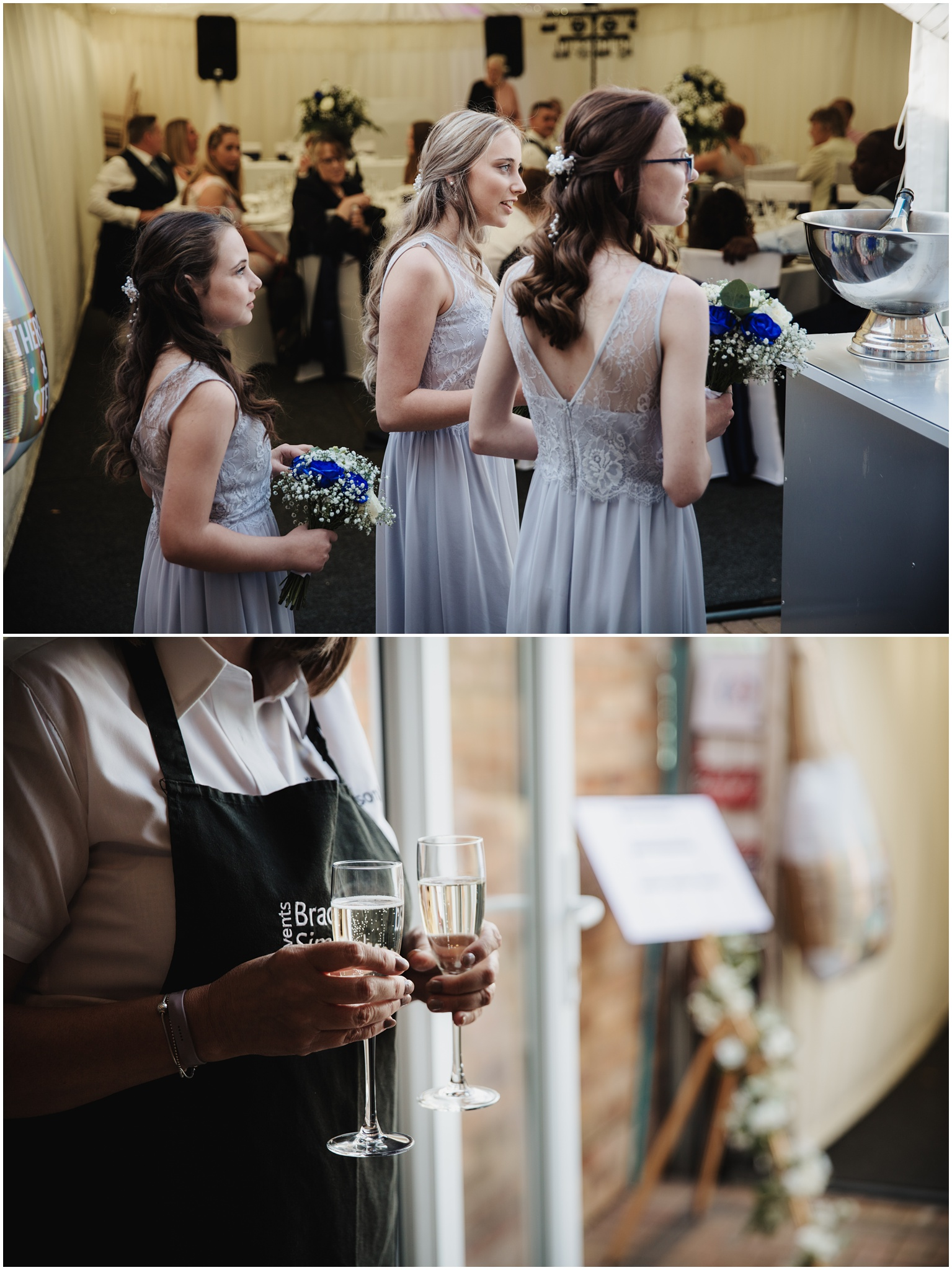 The Rochford Hotel wedding photography - The bridesmaids at the bar
