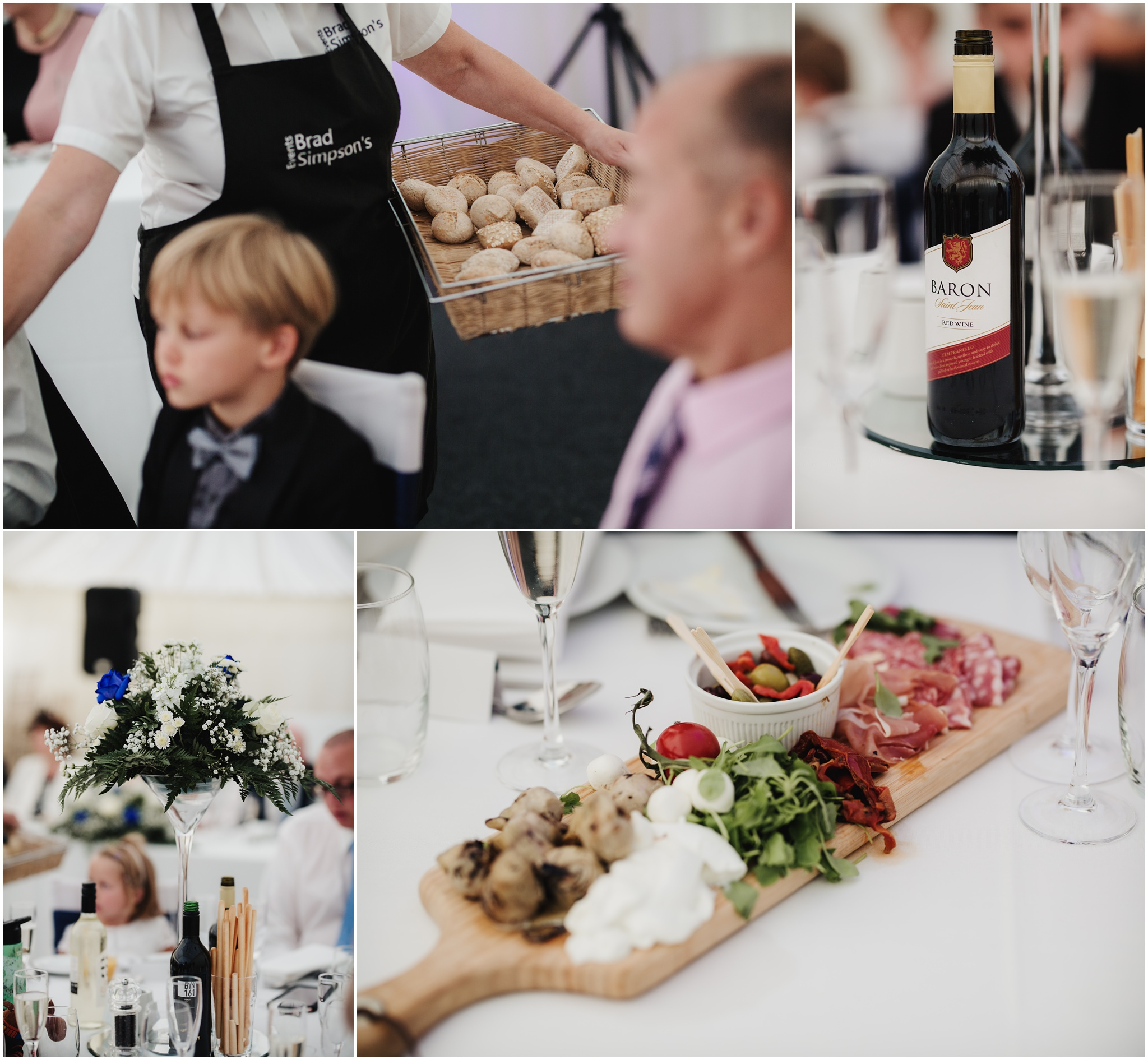The Rochford Hotel wedding photography - Food and drink shots
