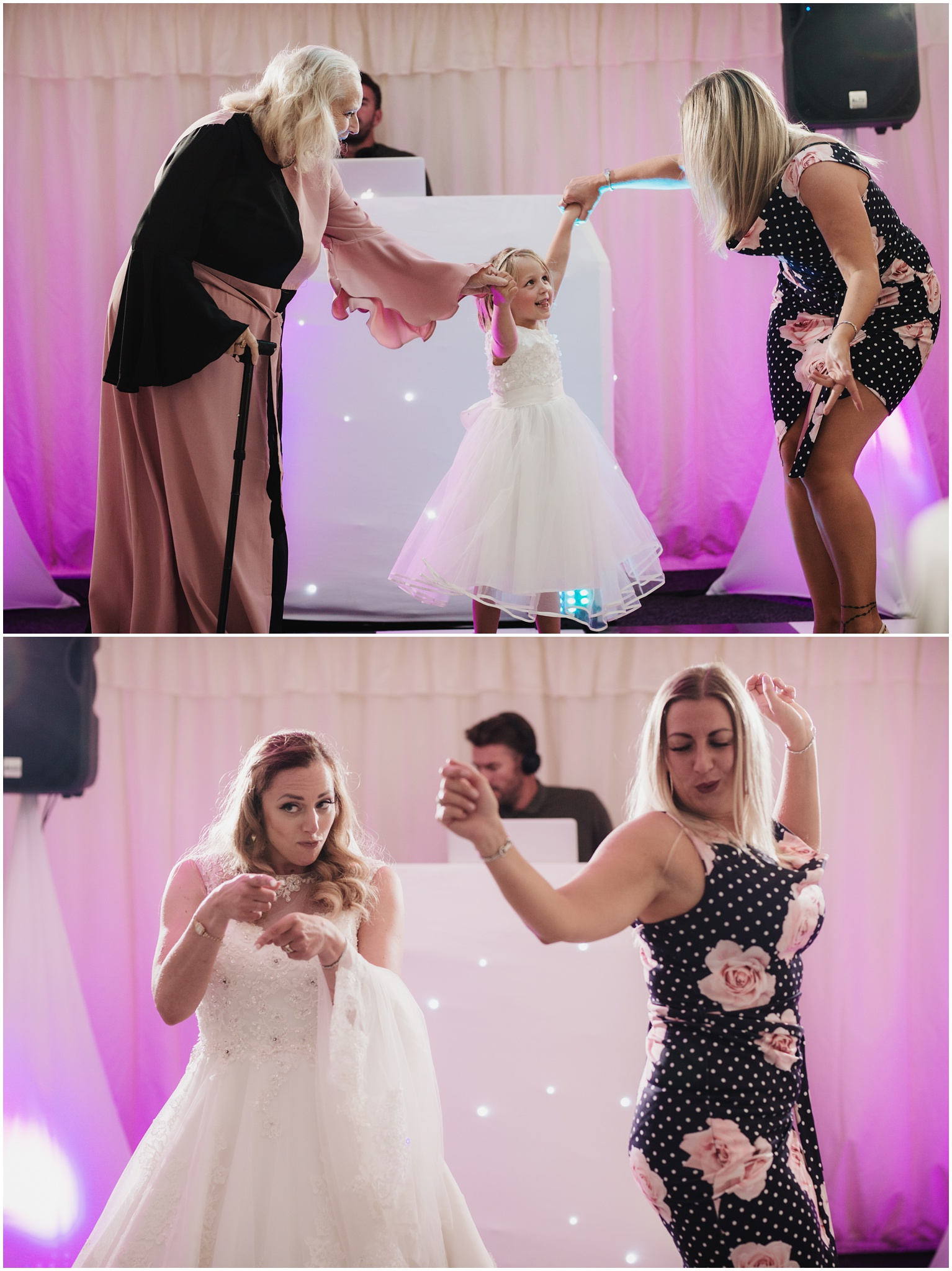 The Rochford Hotel wedding photography - Guests dance on the dance floor