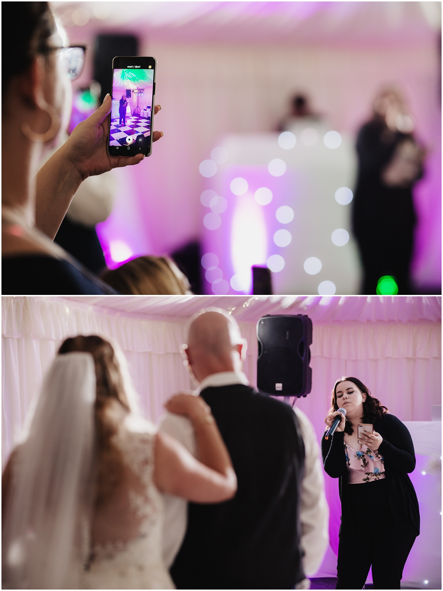 The Rochford Hotel wedding photography - Family member singing