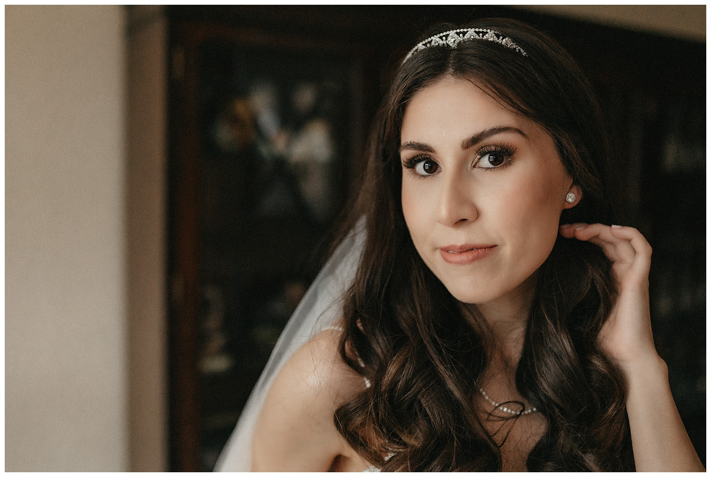Wedding at Foxhills, Surrey Wedding Photographer - Portrait of the bride