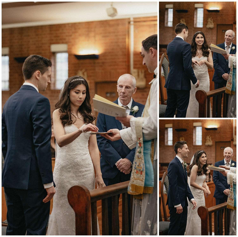 Wedding at Foxhills, Surrey Wedding Photographer - the ring exchange