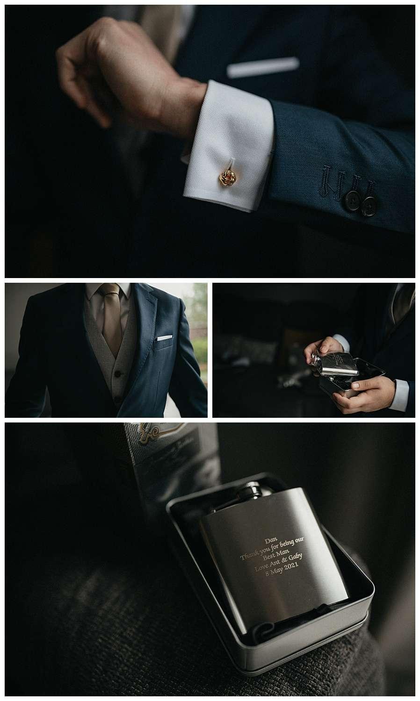 Wedding at Foxhills, Surrey Wedding Photographer - The grooms wedding details