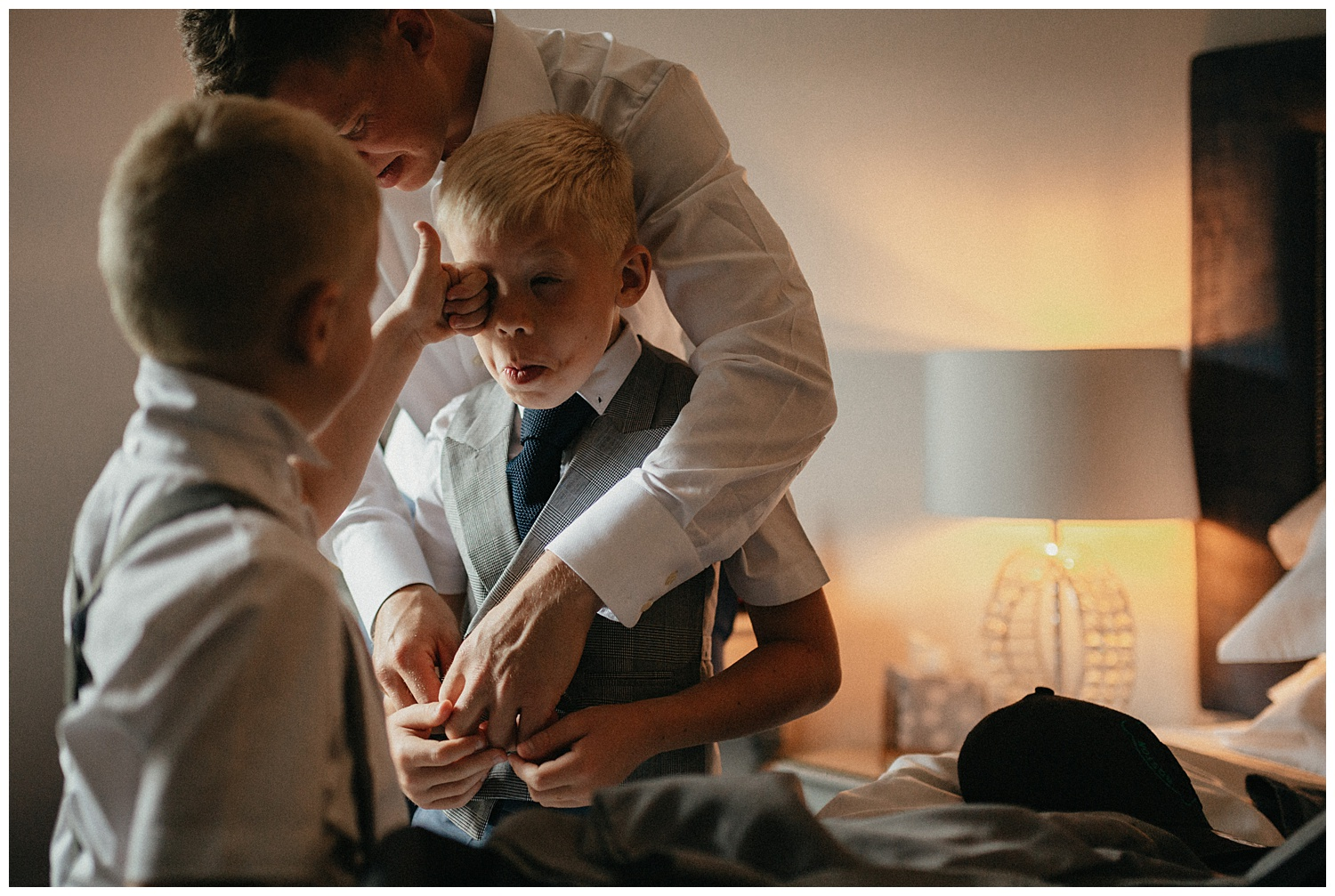 Weddings-at-Crondon-Park-the-kids-play-around-while-getting-ready