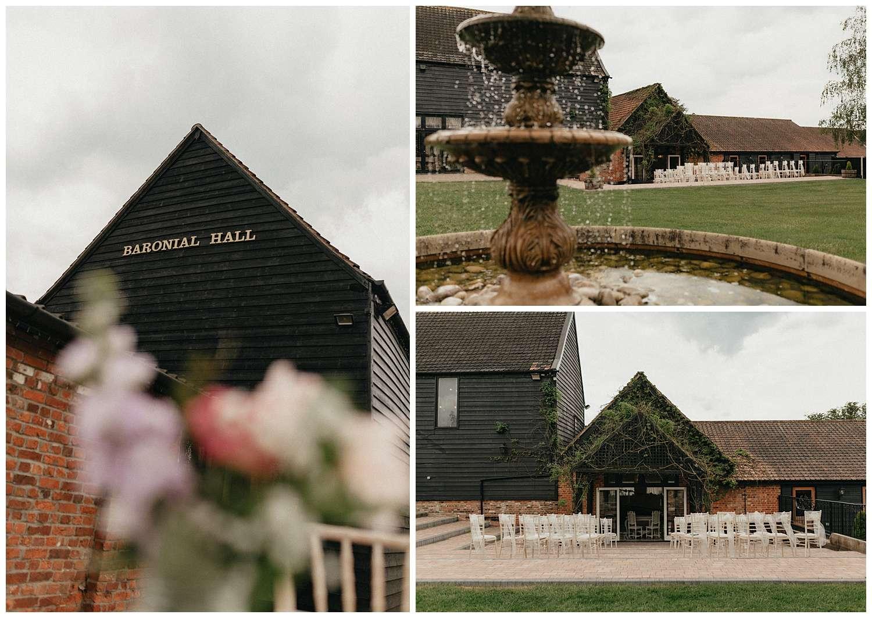 Weddings at Crondon park - shots of the wedding venue