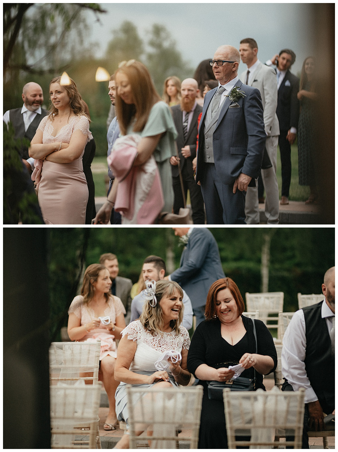 Weddings-at-Crondon-Park-the-wedding-guests-take-their-seats