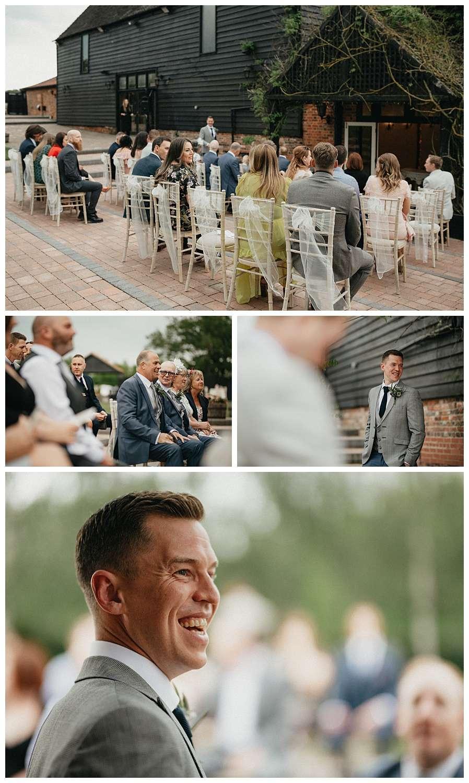 Weddings-at-Crondon-Park-the-groom-waits-at-the-altar