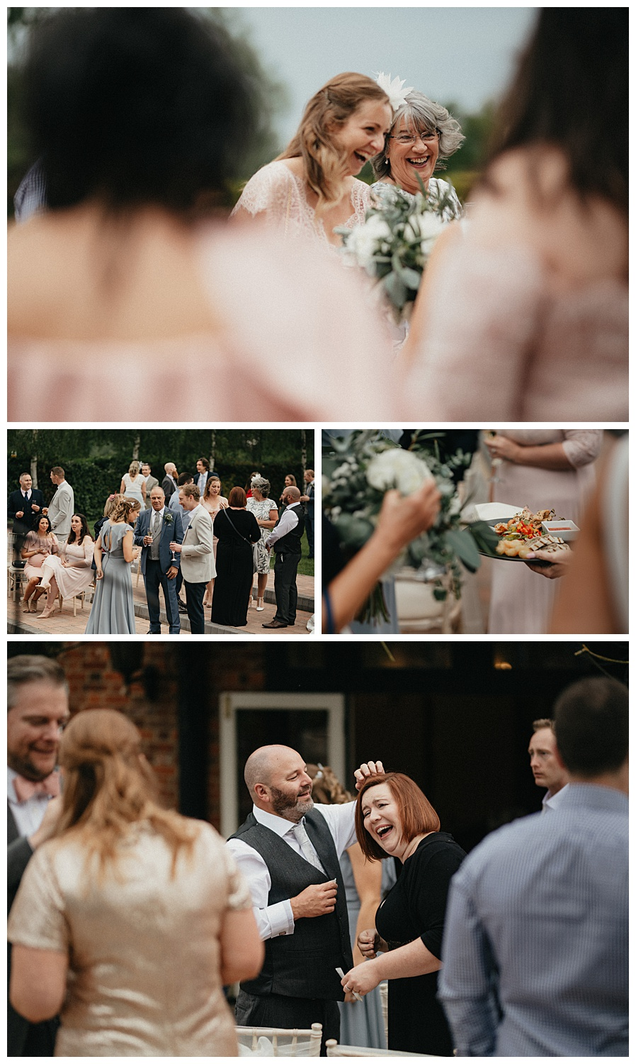 Weddings-at-Crondon-Park-the-wedding-guests-enjoy-food-and-drinks