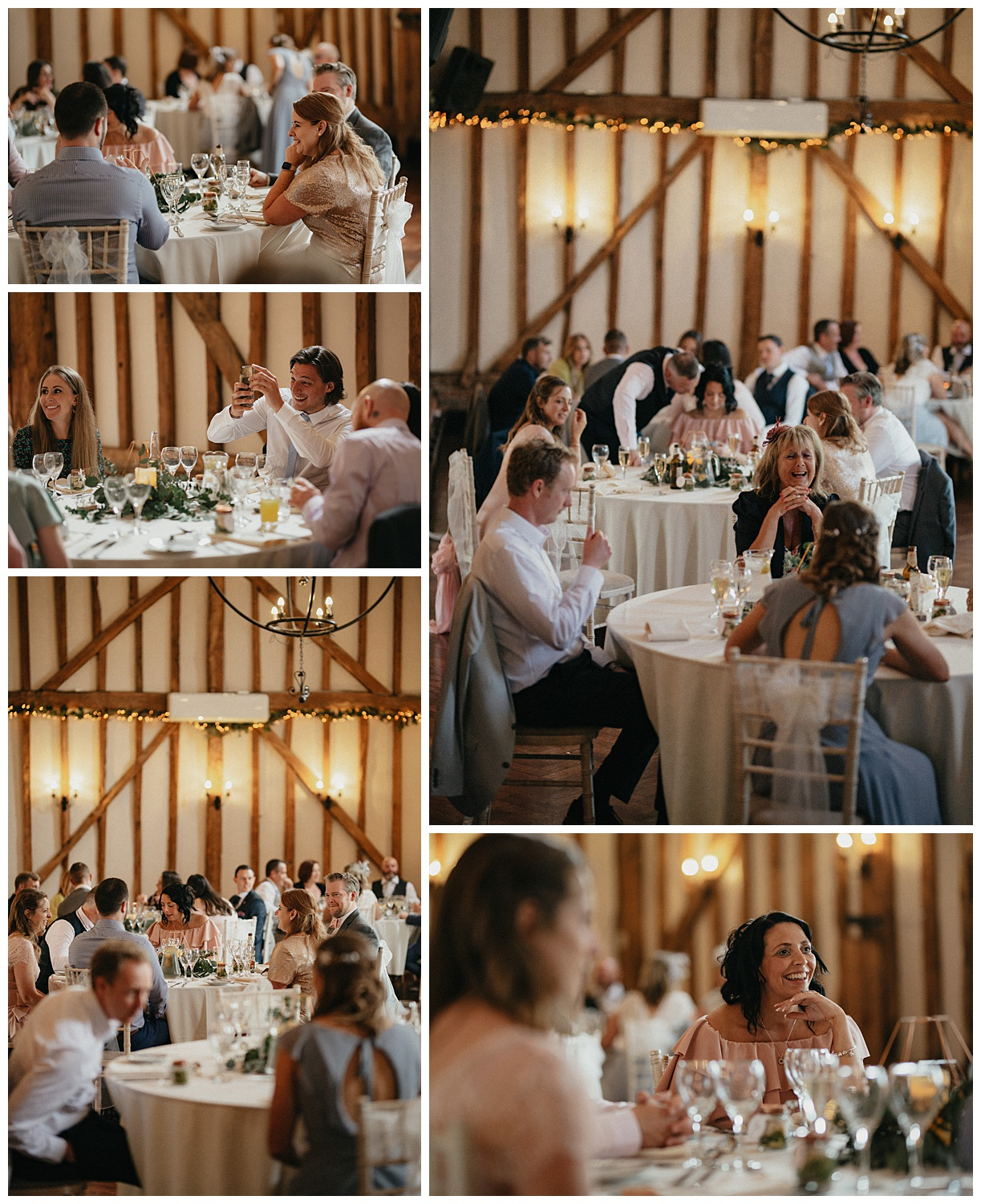 Weddings-at-Crondon-Park-guests-sit-during-meal-time