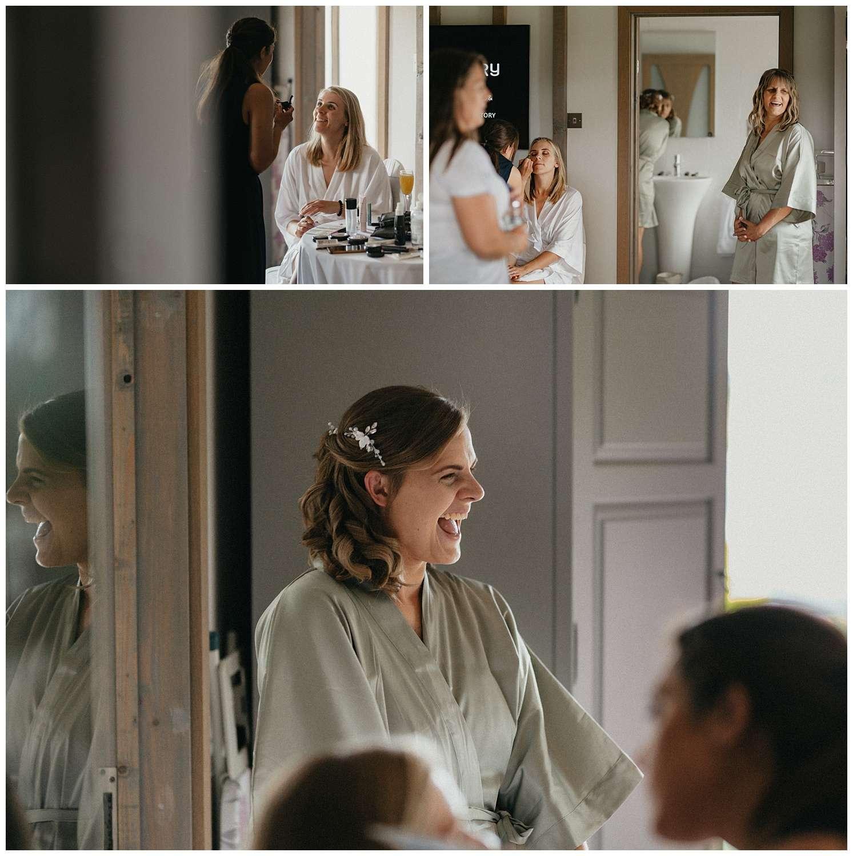 Weddings-at-Crondon-Park-the-bridesmaid-laughs
