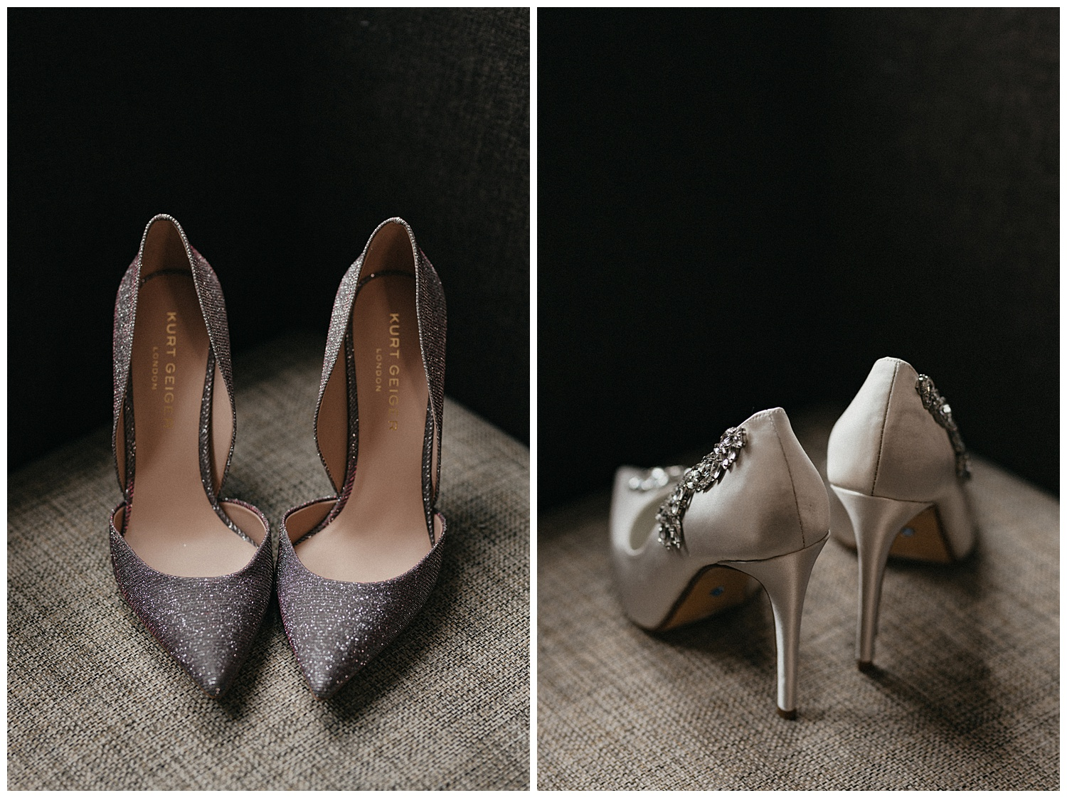 Image of wedding shoes on a chair