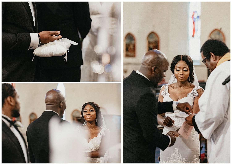 London Wedding Photographer - The exchange of wedding rings
