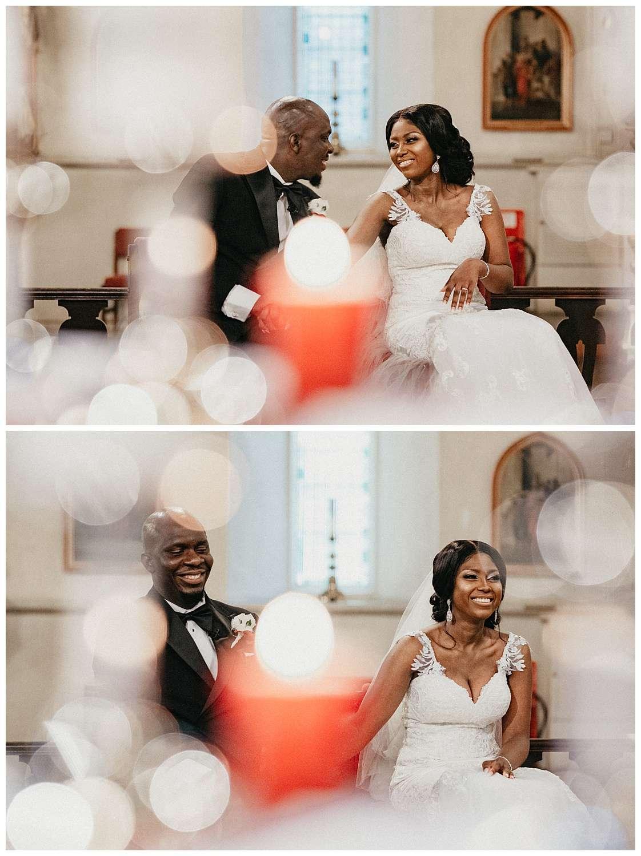 London Wedding Photographer - bride and groom share a joke