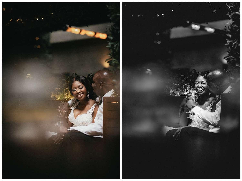 London Wedding Photographer - the couple share a joke together