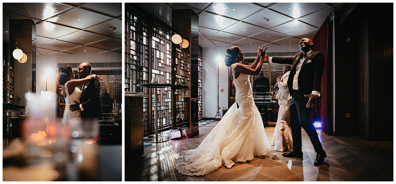London Wedding Photographer - The couple dance on the dance floor
