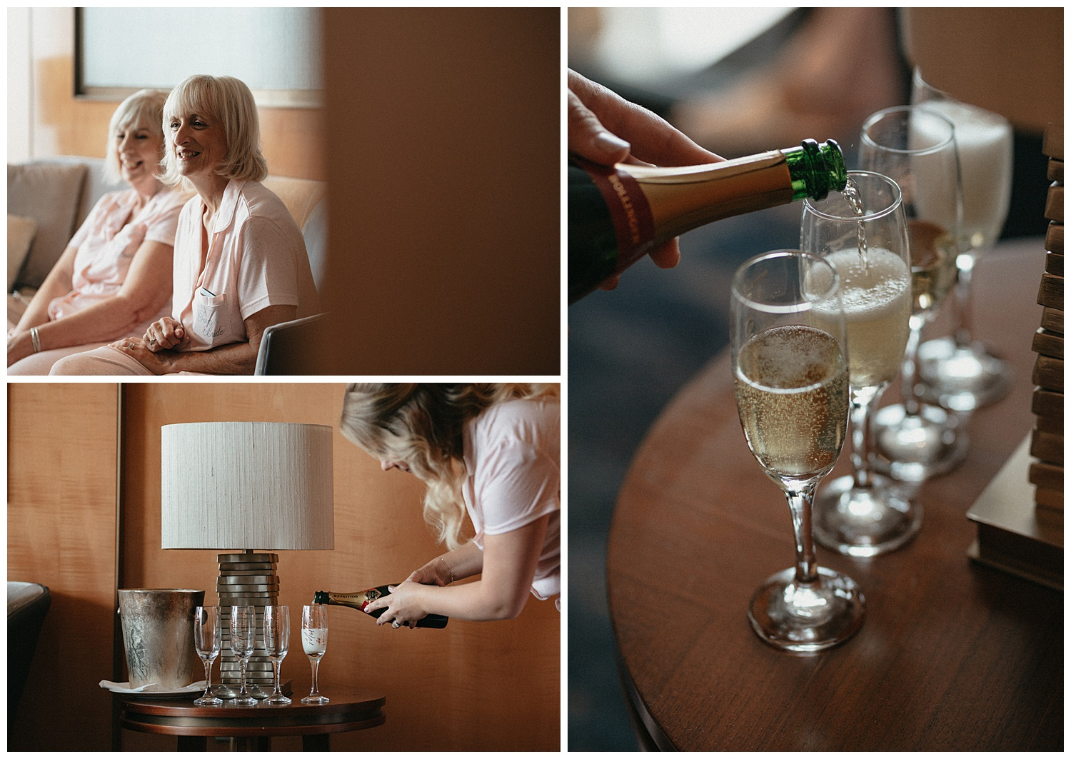 Weddings at The Ivy Tower Bridge - Bridesmaids drinking Prosecco